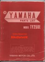 Yamaha TY250 (1978 >) Genuine Factory Parts List Catalog Manual Book TY 250 BK58