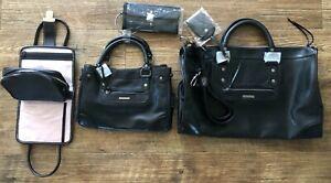 Victoria's Secret 3 Piece Luggage Weekender Set Black 2000's NEW UNUSED MINT WOW