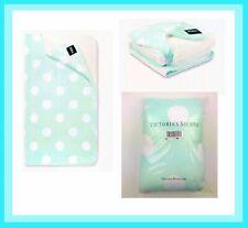 NEW Victoria Secret PINK Sherpa Blanket Bed Cover Mint Polka Dot