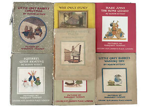 7 Alison Uttley Children's Books, Pictures By Margaret Tempest