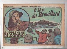Collection Supplément de Zorro n°70. L'île de brouillard. 1951