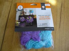 New! Decorate Your Own Yarn Pom Pom Monsters  Christmas Party Time Make 6