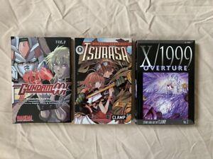 Japanese MANGA Graphic Novel Lot - X/1999 Overture - Gundam 00F - Tsubasa