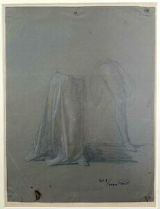 SCIPIONE VANNUTELLI, No.1, Pencil on Paper, SIGNED. 19th Century