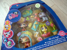 "LITTLEST PETSHOP SET ""avec 1451 Tiger Cat"" in the jungle ""LPS"" CHAT ~ Collection ~ NEUF"