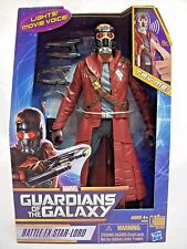 BATTLE FX STAR-LORD Light Up Eyes and Sounds Guardians of the Galaxy toy figure