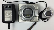 Sharp Md-Ms722 Minidisc Player/Recorder w/Ac Adapter & Remote - Parts/Repair
