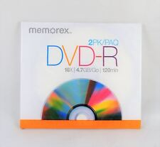 4 Pk Memorex DVD-R Blank Disc & Jewel Case - 4.7GB 120 Min New!!!