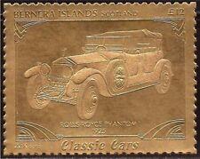 22K Gold Leaf Classic Car Stamp 1925 - Rolls Royce Phantom 1 - 2G-006