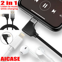 Lightning Cable Headphone Audio & Charging Adapter Charger for iPhone X 7 8 Plus