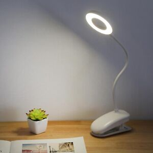 USB Flexible Clamp Clip On LED Light Reading Table Desk Bed Bedside Night Lamp