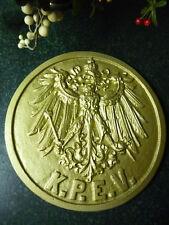 Eisenbahn Adler gold Lokschild Zugschild KPEV Fredericus Rex Zeit der Alte Fritz