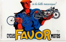 Original vintage poster FAVOR FRENCH MOTOS & CYCLES 1937