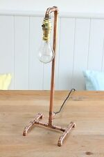 Copper Pipe Table Lamp With Edison Bulb Handmade Industrial Vintage Retro Metal