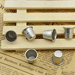 10× Vintage Fingerhut Nähen Grip Pin Nadel Finger Metall Neue-AU Z0V L0Z1