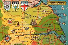YORKSHIRE FRIDGE MAGNET - RIDINGS MAP