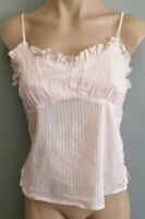 BNWT Ladies Sz S Raviya From USA Pale Pink Buttons Ruffle Crop Sleeveless Top