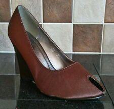 Wedge Peep Toes Standard Width (D) Heels for Women