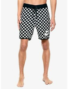 The Nightmare Before Christmas checkered swim trunks shorts mens S MSRP $29.90