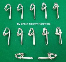 50 X METAL Curtain hooks pleating tape and pinch French pleat sewing sew fabric