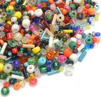 500g Rocailles Perlen 2/3/4/6mm Mix Rund und Stift Glas Schmuck Basteln Z16#500g