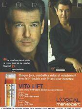 PUBLICITE  ADVERTISING 2008 L'OERAL VITA LIFT Pierce Brosnan
