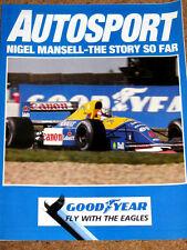 NIGEL MANSELL - THE STORY SO FAR - 1991 Autosport Publication