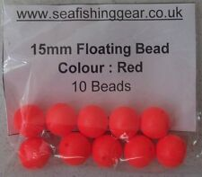 Bag of 10, 15mm Floating Beads, (Foam Colour Red) Pop Up / Strike Indicator Bead