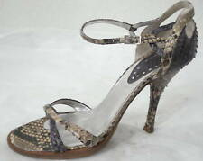 MASSIMO DOGANA PURPLE & NATURAL PYTHON STILLETTO SANDAL 8.5M