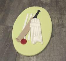 Cricket Cake Topper Men and Boys Sports Handmade Sugarpaste