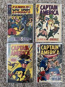Captain America #101,104,105,106,Marvel Comics Silver Age Lot!!