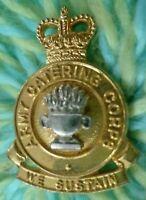 Army Catering Corps COLLAR Badge QC We Sustain Bi-Metal 2 Pin LB & B Ltd