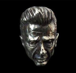 Bronze Johnny Cash Ring Custom Size Handmade Man in Black Country music R180b