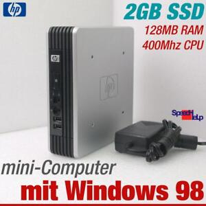 HP Mini Computer PC For Windows 98 Old Dos Games 400MHZ 2GB SSD RS-232 Parallel