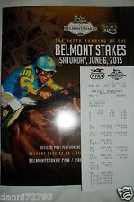 "2015 Belmont Stakes ""AMERICAN PHAROAH""  PROGRAM W/ RESULTS TRIPLE CROWN 3"