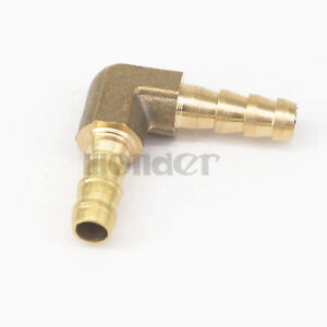 LOT 2 Hose Barb I/D 6mm Elbow Brass coupler Splicer Connector Fittings Adapters