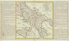 """""""le royaume de naples par j-b.l. clouet. royaume de naples c1787 old map"""