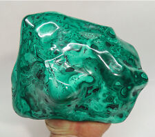 "7.36"" XL POLISHED BULLSEYE MALACHITE - CONGO A-236"