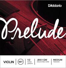 D'Addario Prelude Violin String Set, 1/2 Scale, Medium Tension - J810 1/2M