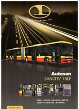 Autosan Sancity 18LF City Bus 2011-12 UK Market Single Sheet Sales Brochure