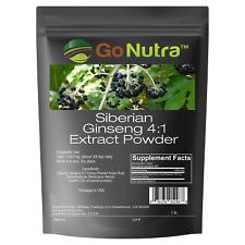 Siberian Ginseng Powder 4:1 Extract 4x times Stronger Non-Gmo 4oz | 1lb