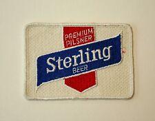 Vintage Premium Pilsner Sterling Beer Distributor Cloth Patch 1960s NOS New