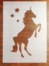 A5 Unicorn Stencil Mask Reusable PP Sheet for Arts & Crafts, DIY