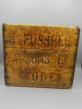 Antique S.Fussell & Sons Rode Brewery Wood Beer & Iron 6 Pk Case Crate England