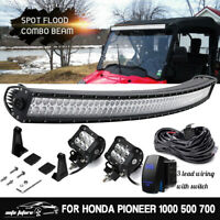 For Honda Pioneer 1000 500 700 42'' LED Light Bar Combo+Remote Switch w/ Wiring