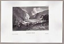 Harpers Ferry, West-Virginia, USA - Stich, Original Stahlstich um 1850