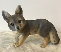 TREVOR FOX FIGURINE BY ROGER BROWN BABIES OF ENDANGERED SPECIES SERIES RARE