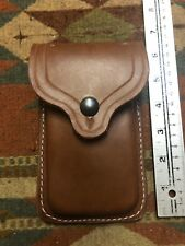 Fits Single Stack 45 ACP Colt Model 1911 Tanned Leather Two Magazine Flap Pouch