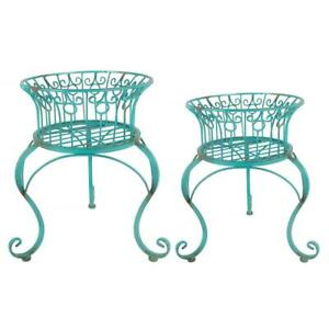 Set of 2 Iron Planter Stands