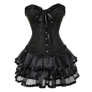 Sexy Corsets Women Plus Size Costume Burlesque Corset Skirt Set Corselet Gowns